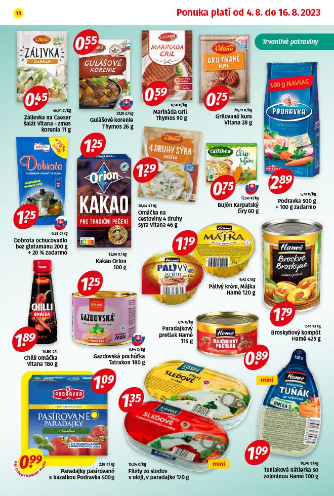 Potraviny KORUNA - aktuálny akciový leták - strana 11