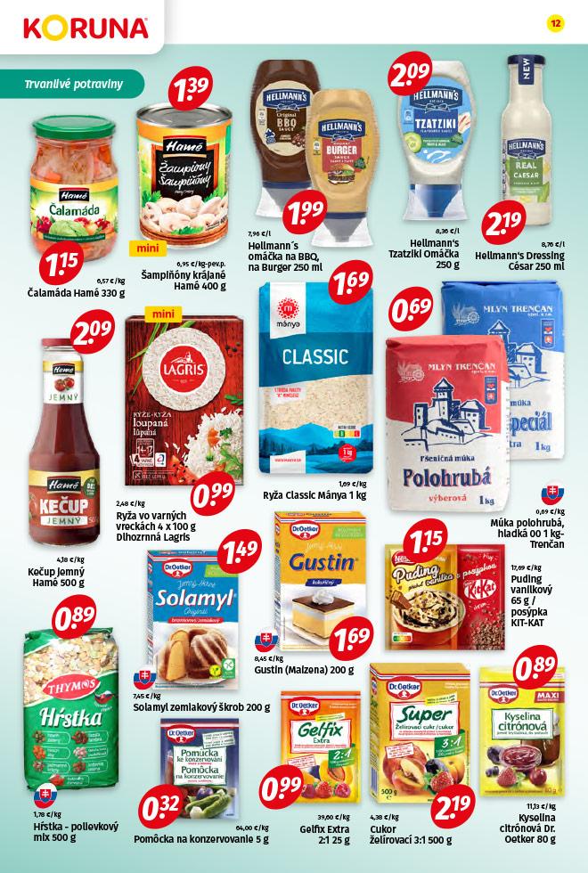 Potraviny KORUNA - aktuálny akciový leták - strana 12