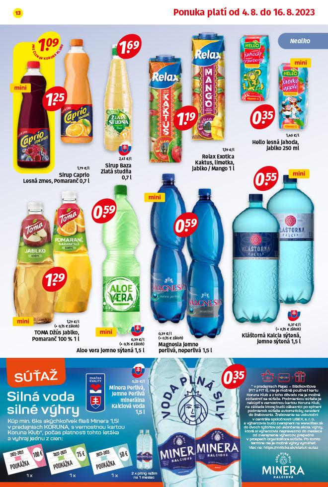 Potraviny KORUNA - aktuálny akciový leták - strana 13