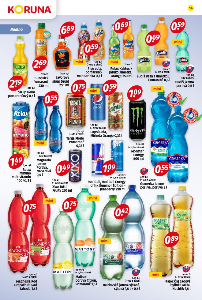 Potraviny KORUNA - aktuálny akciový leták - strana 14
