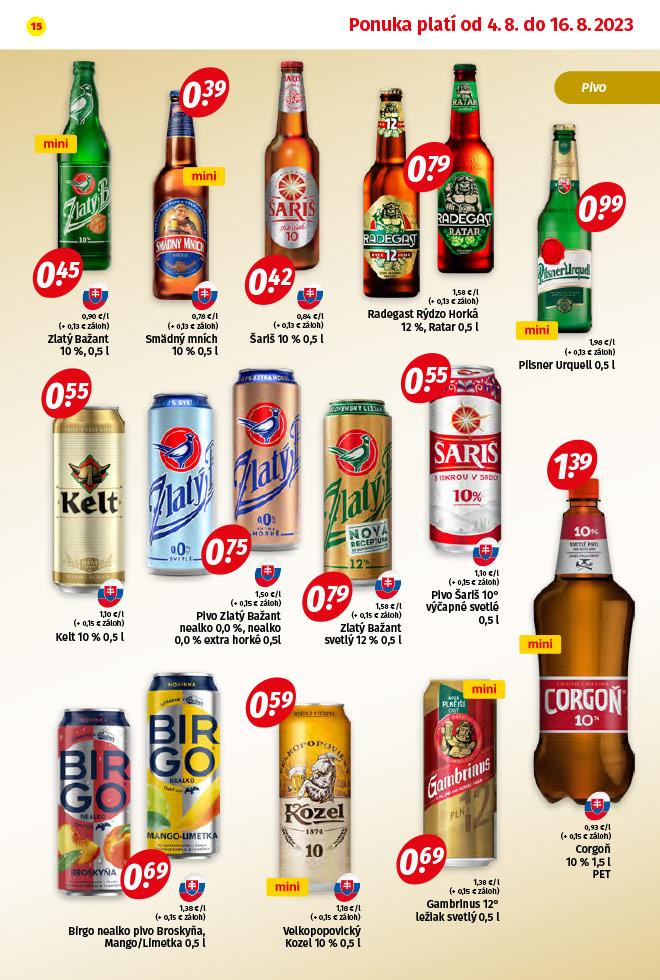 Potraviny KORUNA - aktuálny akciový leták - strana 15