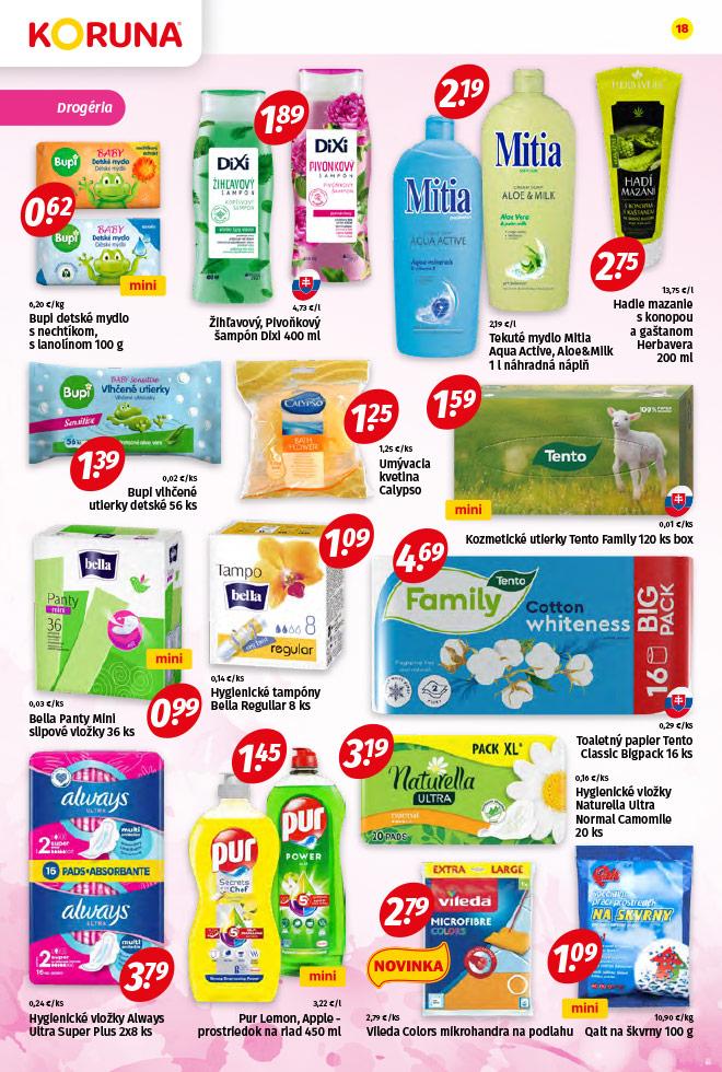 Potraviny KORUNA - aktuálny akciový leták - strana 18