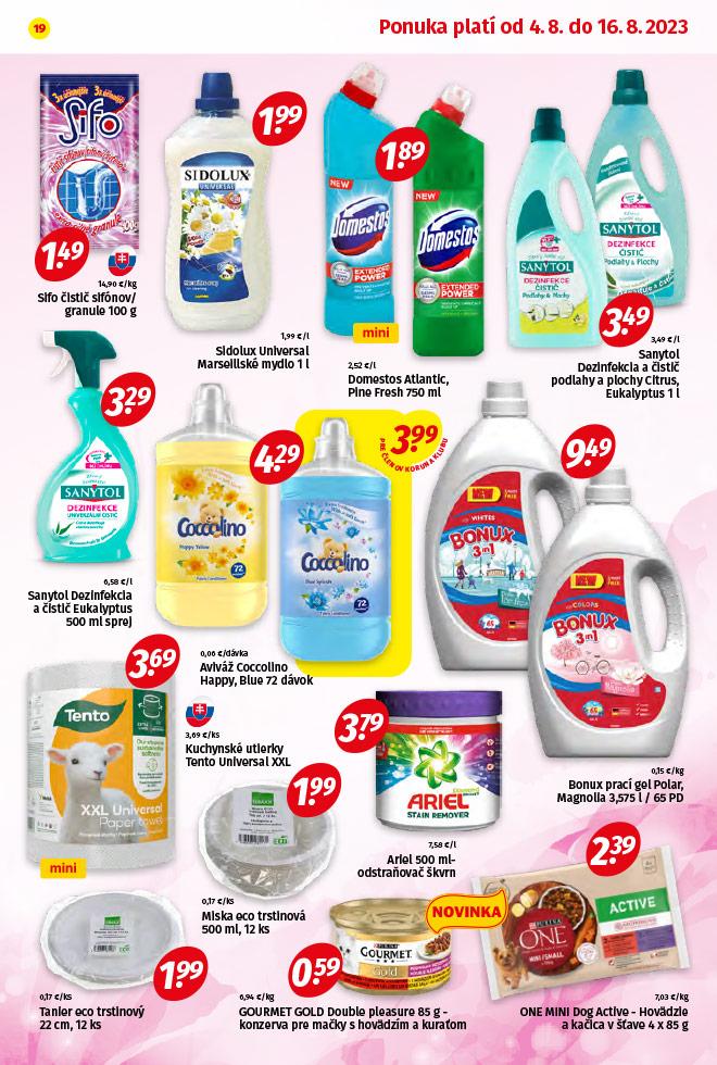 Potraviny KORUNA - aktuálny akciový leták - strana 19