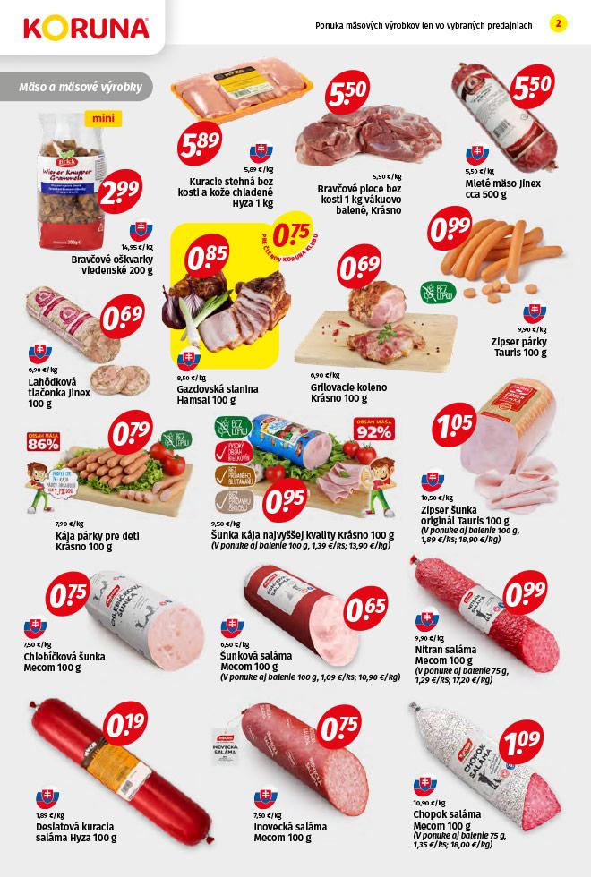 Potraviny KORUNA - aktuálny akciový leták - strana 2