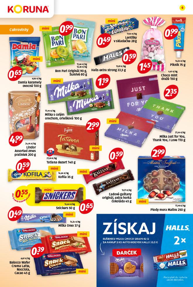 Potraviny KORUNA - aktuálny akciový leták - strana 6