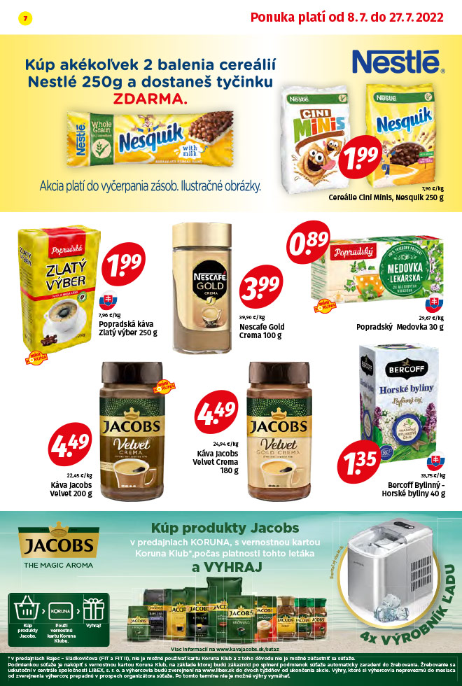 Potraviny KORUNA - aktuálny akciový leták - strana 7