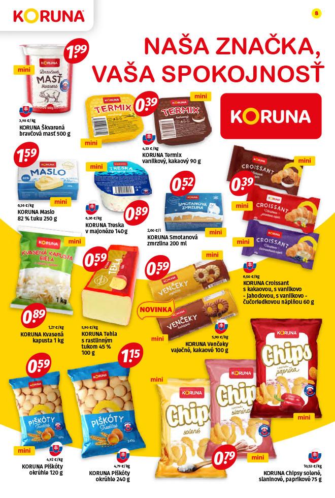 Potraviny KORUNA - aktuálny akciový leták - strana 8