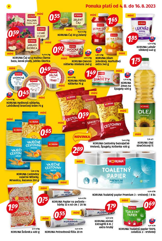 Potraviny KORUNA - aktuálny akciový leták - strana 9