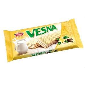 Vesna oblátky s mliečnou krémovou náplňou so smotanovo vanilkovou arómou 50 g