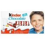 Kinder Chocolate - tyčinky z mliečnej čokolády s mliečnou náplňou 8x12,5g=100g