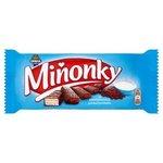 Miňonky-oblátky s náplňou so smotan.príchuť.celomáčané v mlieč-kakao.poleve 50g