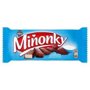 Minonky-oblatky s naplnou so smotan.prichut.celomacane v mliec-kakao.poleve 50g