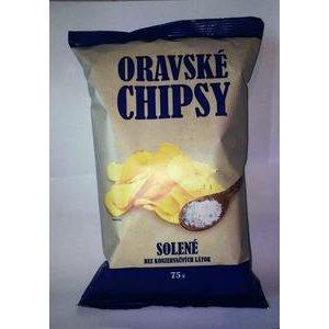 Oravske chipsy 75g-solene