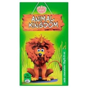 Kralovstvo zvierat-mliecna cokolada 15g