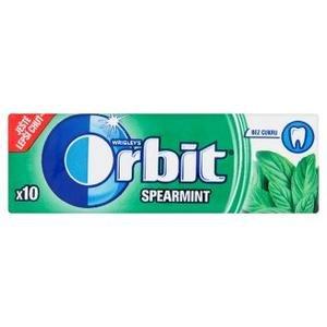 Žuvačka Orbit Spearmint - s mätovou príchuťou bez cukru 14g (10 dražé)