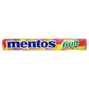Mentos Fruit - žuvacie cukríky s ovocnou príchuťou 38 g