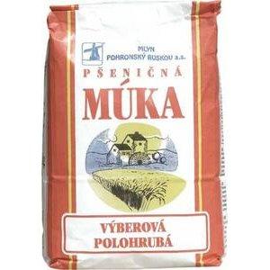 Pšeničná múka výberová polohrubá Mlyn Pohronský Ruskov 1kg