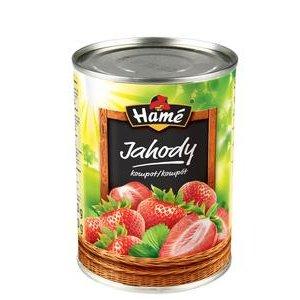 Kompót jahodový v sladkom náleve Hamé 410g