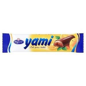Yami želé tyčinka s kandizovanou pomarančovou kôrou v horkej čokoláde 25g