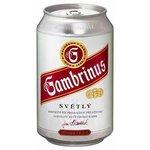 Pivo Gambrinus 10° v plechovke 0,33l