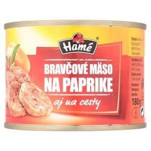 Bravčové mäso na paprike Hamé 180g