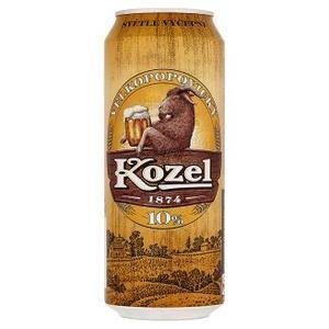 Pivo Velkopopovický kozel 10% 0,5l/plech