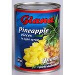 Ananasový kompot kúsky Giana 580ml