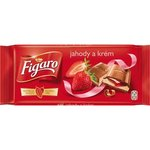 Figaro mliečna čokoláda jogurtovo-jahodová 100g