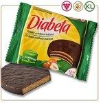Diabeta oblátka s orieškovou náplňou celomáčaná v kakao.poleve s fruktózou 25g