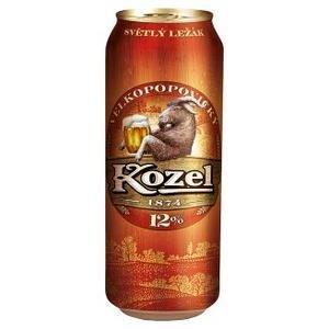 Pivo Velkopopovický kozel 12% 0,5l/plech