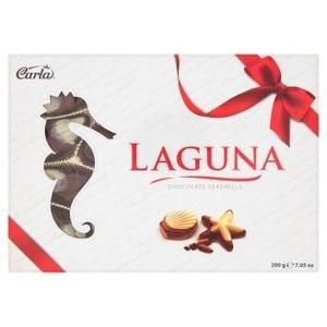Carla Laguna Morské plody-pralinky s orieškovou náplňou z mlieč.a bielej čok.200g