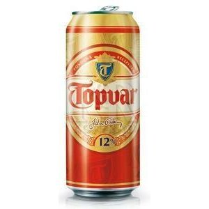 Topvar 12% - pivo leziak svetly 0,5 l / plechovka