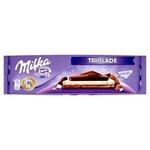 Čokoláda Milka Triolade - Mliečna, biela a tmavá mliečna čokoláda 300g