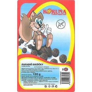 Koruna-kakaové guličky 130g