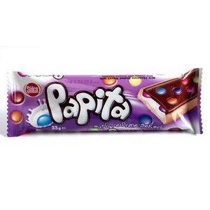 Papita Mliečna -Sušienka s mliečnym krémom v čokoláde s dražé cukríkmi 33g