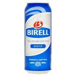 Birell - svetlé nealkoholické pivo 0,5 l / plech