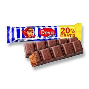 Deva Klasik - tyčinka z mliečnej čokolády s mliečno rumovou náplňou 33 g + 20 %