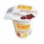 Smotanový jogurt Koruna Višne v čokoláde 125g