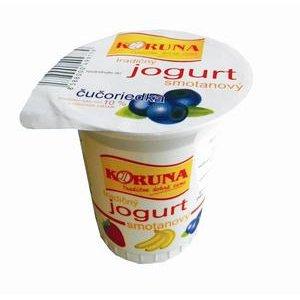 Smotanový jogurt Koruna Čučoriedkový 125g