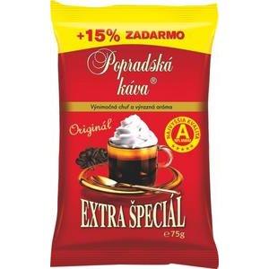 Popradská káva Extra špeciál 75g+15% zadarmo