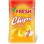 """Zemiakové chipsy s príchuťou slaniny """"FRESH"""" 75g"""