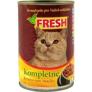 """Krmivo pre mačky s kuracím mäsom """"FRESH"""" 415g/konzerva"""
