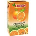 Pomarančová šťáva 100% FRESH v TP 1l