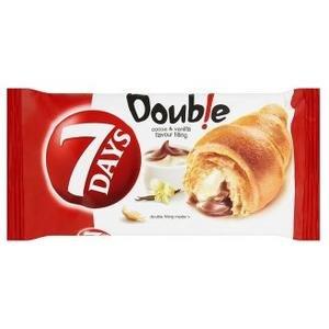 Croissant 7Days Double s kakaovou a vanilkovou náplňou 60g