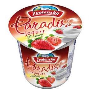 Zvolenský jogurt Paradiss Jahoda - živý, strednotučný150g
