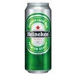 Pivo Heineken 0,5l/plech