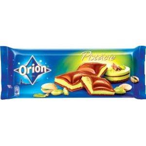 Mliečna čokoláda ORION s pistáciovou a lieskoorieškovou náplňou 240g
