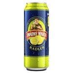 Smadny mnich Radler Citron - alkoholicky pivny napoj s prichutou 0,5 l / plechovka