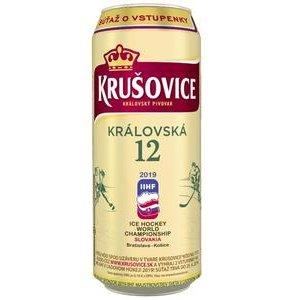 Pivo Krušovice svetlé 0,5l/plech