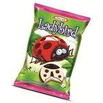 Ladybird/Lienka - sušienka s mliečnym krémom v horkej,mliečnej a bielej poleve 25g